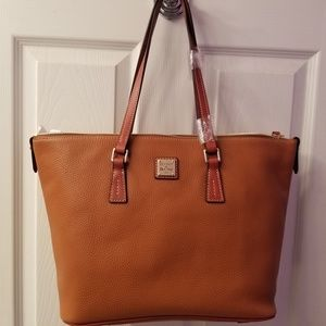 Dooney Zip Top Shopper NWT.